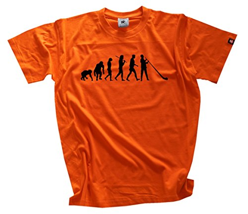 Standard Edition Almhorn Alphorn Blaeser Evolution T-Shirt arancione