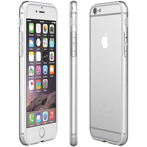 Bumper Case Cover für Apple iPhone 6 / 6s (4,7 Zoll) - Schutzhülle für den Rand aus PC mit Dämpfern aus Silikon in schwarz macht den Rahmen besonders leicht und dünn - iPhone6/6s Hülle Tasche Schale v weiß