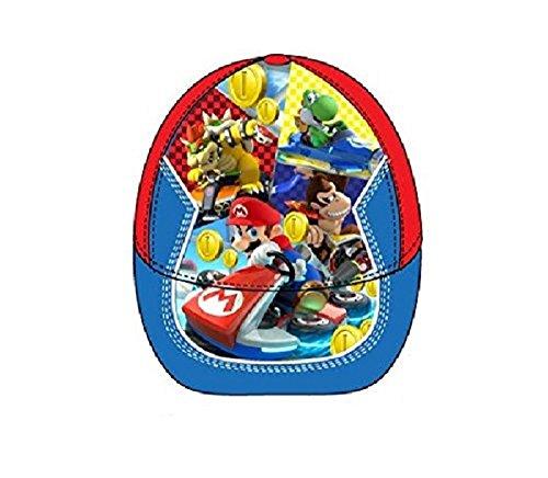Preisvergleich Produktbild Kinderschirmmütze rot/blau * Super Mario Kart 8 * Größe 52