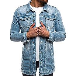 Naturazy 2018 Camisas para Hombre Modernas Sudaderas Caballero Ropa OtoñO E Invierno Moda Casual Delgado Y Guapo Moda Masculina CáRdigan Vaquera OtoñO Casual Hombres