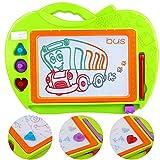 Tablero de dibujo del color magnético de los niños, etiqueta engomada borrada de la estera del bosquejo de la escritura La educación del juguete de la pintada juega el regalo fijado (el regalo de los niños)