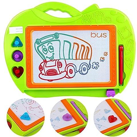 Kinder magnetische Farbe Zeichnung Board, löschbare Schreiben Skizze Matte Magnet Graffiti Spielzeug Bildung Spielzeug Geschenk Set (Kinder Geschenk) +1 Farbe Malerei Stift + 3 verschiedene Formen Magnet Seal
