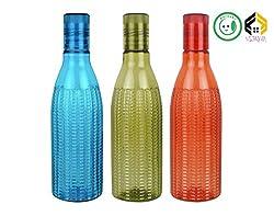 Aarushi Food Grade Plastic Water Bottles 500 ml Pack of 3 (Multicolour)