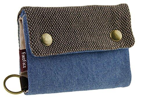 Liying Neu Geldbeutel Geldbörse Portemonnaie mit Geldklammer,Canvas Herren-Portmonee,Herrenbörse,Kreditkartenetui,Brieftasche,Geldtasche mit RFID-Blocker (Canvas-nylon-geldbörse)
