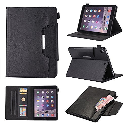 casefirst iPad Pro 9.7 inch Holster Case Flip, Cover Suit Premium Vertical Leather Pouch Sleeve Carrying Case Women with Card Slot Holster for iPad Pro 9.7 inch (Black) Case Pouch Holster