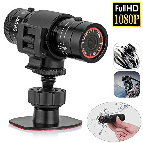 Mini Sport Kamera Sport Helm Fahrradhelm Videokamera Wasserdicht 1080P Full HD DVR AVI Video Aktion Camcorder Ideal für Klettern Skifahren Reiten Outdoor Surfen von Sue Supply