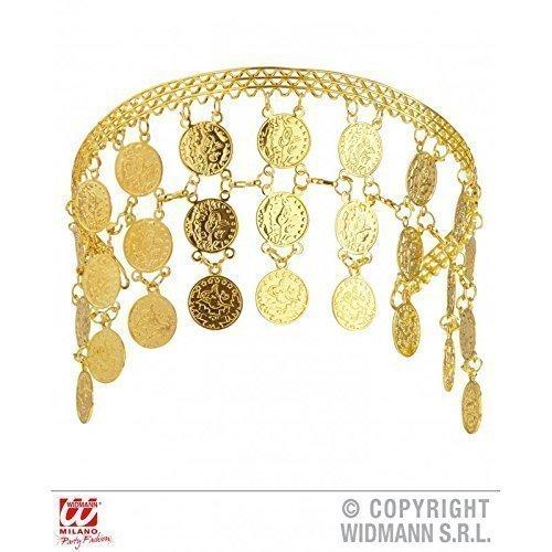 chmuck mit Goldmünzen für Kostüm Orient / Bauchtänzerin / Antike / Kopfbedeckung / Fasching (Ägyptische Bauchtänzerin Kostüm)