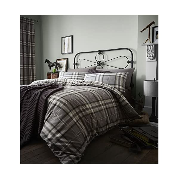 Catherine Lansfield Kelso Easy Care Single Duvet Set Charcoal 51 2BC8HOBk0L