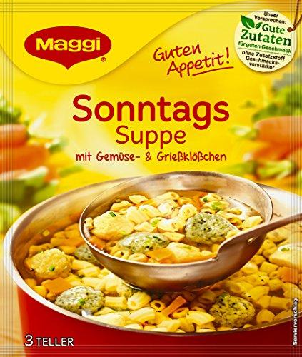 Maggi Guten Appetit Suppe Sonntags, 21er Pack (21 x 57 g)
