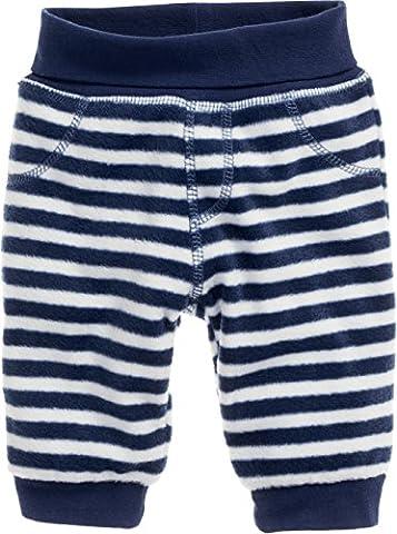 Schnizler Unisex Baby Hose Fleece Pumphose Babyhose Maritim mit Strickbund, Oeko-Tex Standard 100 Blau (Marine/Weiß 171), 56