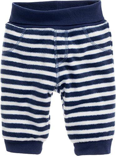 Schnizler Unisex Baby Fleece Pumphose Babyhose Maritim Mit Strickbund, Oeko-tex Standard 100 Hose, Blau (Marine/Weiß 171), 74 -