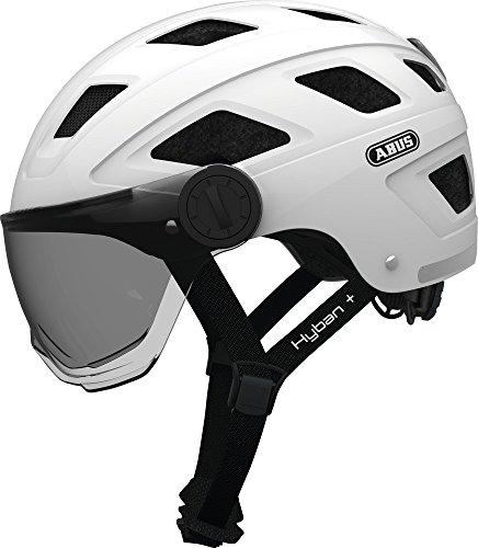 Abus Hyban+ Helmet White, Smoke Visor Kopfumfang M/L | 56-61cm 2019 Fahrradhelm