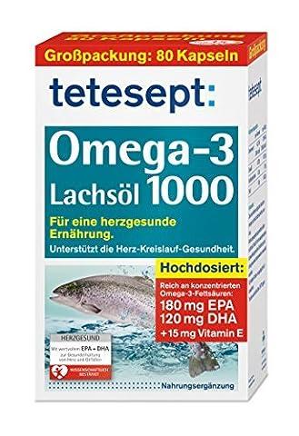 tetes.Omega-3 Lachsöl 1000 Kap 80St by Tetesept
