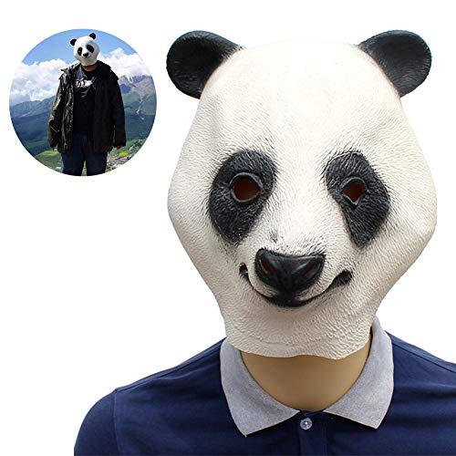 RISILAYS Halloween Maske, Tier Maske, Panda Koala Styling Maske, Latex Cosplay Weihnachten Cosplay Partei Liefert Karneval Geschenke,White