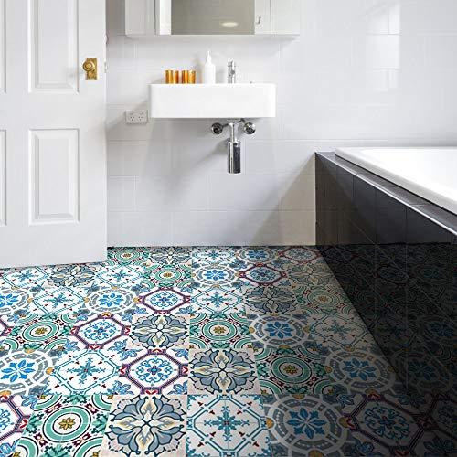 HyFanStr Fliesen Aufkleber Stickerfliesen 20X20, Fliesen Aufkleber Mosaik für KüChen Badezimmer, Wasserdicht Fliesen Sticker Fliesen Boden Aufkleber