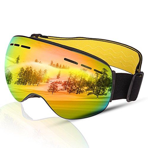 BOLLFO Ski Goggles, Anti Niebla Gafas Esquiar OTG
