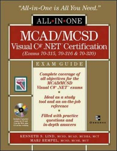 MCAD/MCSD Visual C sharp .NET Certification, w. CD-ROM (All-In-One)