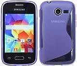 S-Line TPU SchutzHülle für Samsung Galaxy Pocket 2 G110HN Silikon Hülle in Violett @ Energmix