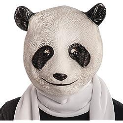Carnival Toys Máscara de látex panda en bolsa con encabezado, color blanco (1404)