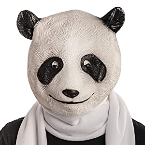 Carnival Toys - Máscara de látex panda en bolsa con encabezado, color blanco (1404)