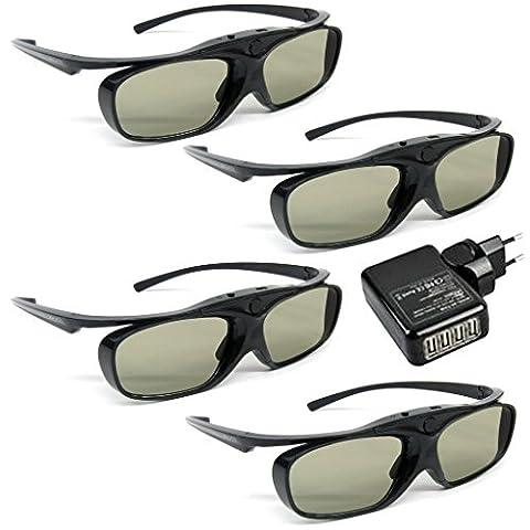 FAMILYPACK 4 Stück VIDIMENSIO® 3D-BT Pro - 3D Brillen