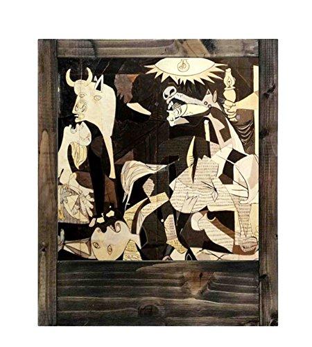 Lámpara de madera Picasso Guernica
