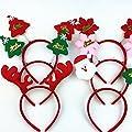 Kondrao 2pcs Weihnachten Haarbander Stirnbänder Fancy Dress Party Assorted Weihnachten Leiter Boppers (zufällige Stil)