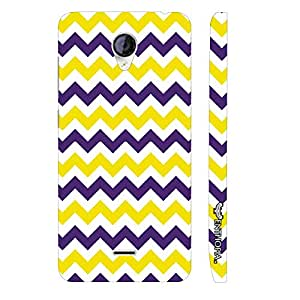 Micromax Canvas A106 CHEVRON YELLOW AND PURPLE designer mobile hard shell case by Enthopia