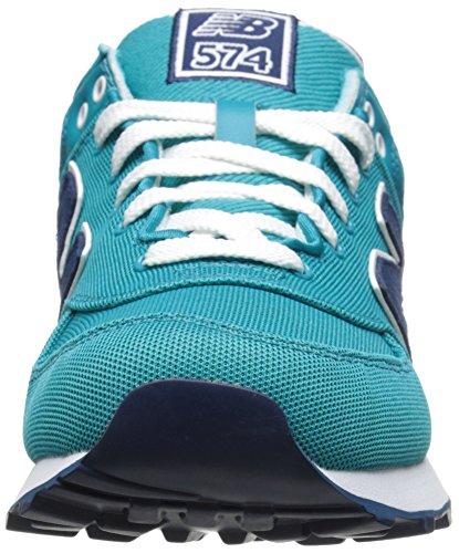 New Balance WL574 B, Baskets Basses Femme Bleu (Turquoise)