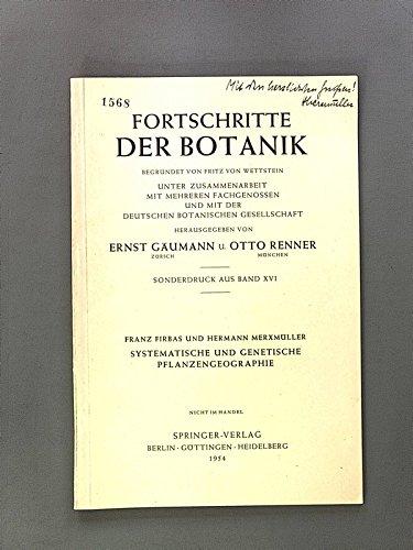 Systematische und genetische Pflanzengeographie.