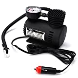 WINOMO Mini Compresseur d'air Portable 12v Gonfleur Pneu DC 12V 300 PSI (noir)
