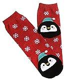 FNKDOR Unisex Socken Weihnachten Christmas Winter Kuschelsocken