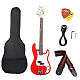 Best Bass Guitars - ammoon Solid Wood Electric Bass Guitar PB Style Review