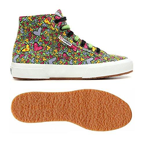 Chaussures Le Superga - 2795-fabricheartsw GREEN-HEARTSMULTICOL