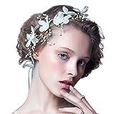 #8: Rrimin Pearl Bead Flower Headwear Bridal Wedding Handmade Hair Accessories