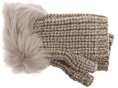 UGG Women's Crochet Gloves w/ Lurex/Sequins/Toscana Trim Stormy Grey Heather One Size