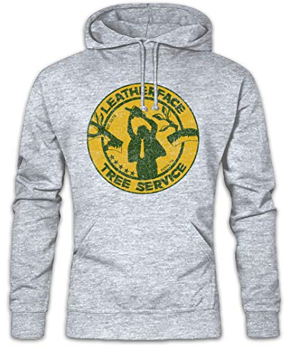 Urban Backwoods Leatherface Tree Service Hoodie Kapuzenpullover Sweatshirt - Größen S - 2XL (Hoodie Chainsaw Texas Massacre)