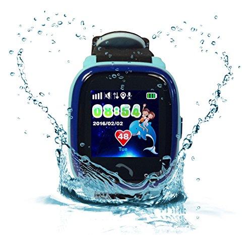 VIDIMENSIO GPS Telefon Uhr Kleiner Delfin Wifi WASSERDICHT für Kinder, SOS Abbildung 2