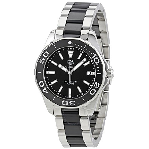 TAG HEUER WOMEN'S AQUARACER 35MM CERAMIC BAND QUARTZ WATCH WAY131A.BA0913
