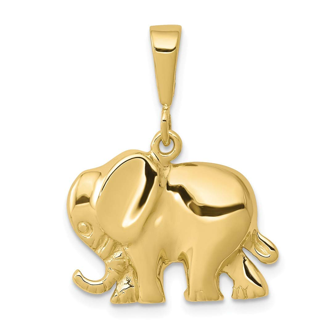 10k Yellow Gold Elephant Pendant Charm Necklace Animal Fine Jewellery Gifts For Women For Her