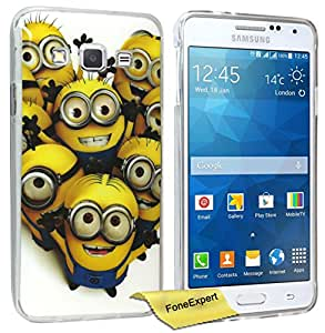 FoneExpert® Galaxy Grand Prime - Etui Housse Coque TPU Gel Cover Case pour Samsung Galaxy Grand Prime SM-G530 G530FZ + Film de Protection d'Ecran (Minion 1)