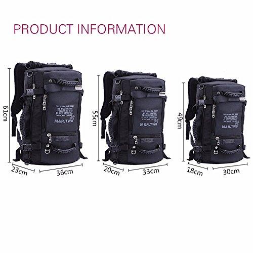 TBB-Zaino borsa a tracolla all'aperto multifunzionale borsa da viaggio di grande capacità per i bagagli di viaggio bag,Blu L13xW7.8xH21.6pollice Grey L14xW9xH24inch