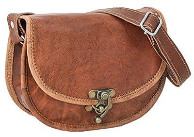 """Sac à main - Gusti Cuir nature """"Rosa"""" sac à bandoulière vintage sac pour sortir rétro sac pour tous les jours homme femme cuir de chèvre marron H69"""