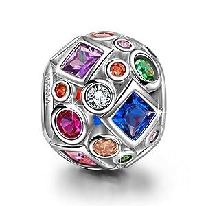 NINAQUEEN ♥Das Mädchen mit dem Perlenohrgehänge♥ 925 Sterlingsilber Perlenohrringen mit Swarovski Perlen Kristall verziert