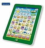 Kinder lernen französisch interaktive Zweisprachiges Touch-Pad Tablet mit Touchscreen - lexibook Kinder Pad entdeckende Zahlen & Buchstaben, Wörter, Schreibweisen, Musik und Instrumente (Englisch / Spanisch)
