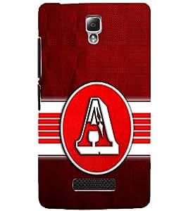 PrintDhaba ALPHABET A D-6795 Back Case Cover for LENOVO A2010 (Multi-Coloured)