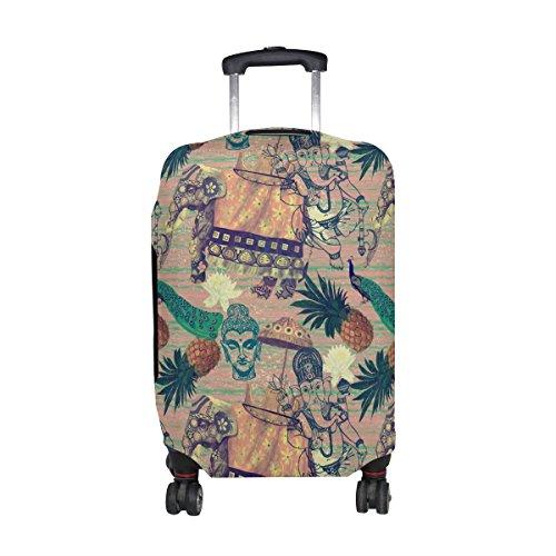 COOSUN Los elefantes indios Imprimir equipaje de viaje cubiertas protectoras lavable Spandex...