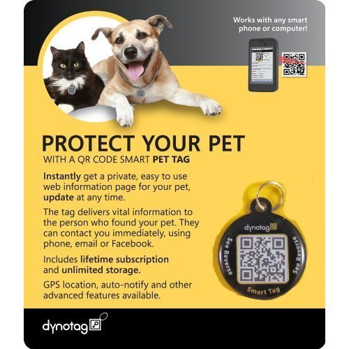 dynotag-internet-enabled-qr-code-smart-round-metal-tag-and-ring-pet-tag-property-tag-multiple-uses