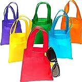 German Trendseller® - 12 x sac en tissu ┃ pour enfants┃ différents couleurs ┃pour petits cadeaux┃ l'annieversaire d'enfant