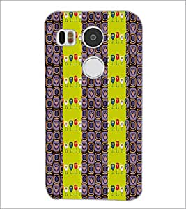 PrintDhaba Owl Pattern D-2945 Back Case Cover for LG NEXUS 5X (Multi-Coloured)